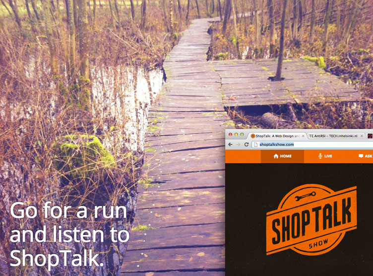Run and listen to Shop Talk